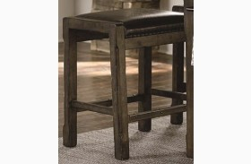 Crossroads Birch Smoke Upholstered Kitchen Island Stool Set of 2