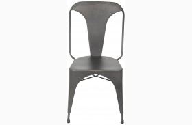 Pair of Austin Matte Grey Dining Chair