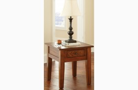 Desoto Medium Red Oak End Table