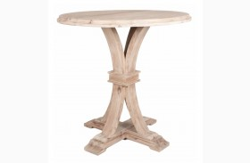 Devon Stone Wash Bar Height Round Dining Table