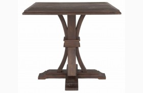 Devon Rustic Java Square Counter Height Dining Table