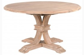 Traditions Stone Wash Devon Round Extendable Dining Table