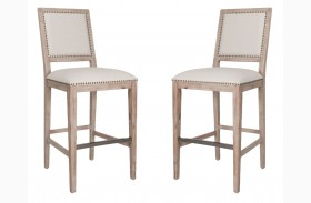 Dexter Stone Wash Bar Stool Set of 2