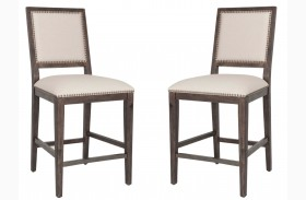 Dexter Rustic Java Counter Stool Set of 2