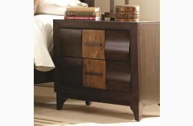 Dublin Dark forest Two Tone 2 Drawer Night Stand