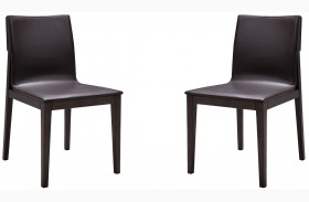 E538Y Brown Oak Modern Chair Set of 2
