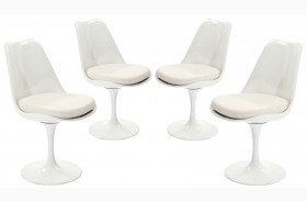 Lippa White Dining Side Chair Set of 4