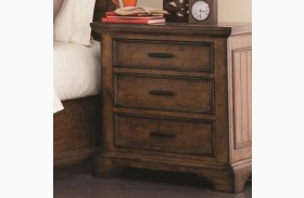Elk Grove Vintage Bourbon 3 Drawer Nightstand