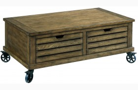 Elm Ridge Burnished Elm Rectangular Storage Cocktail Table