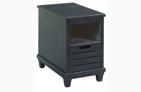 Elm Ridge Black Charging Chairside Table