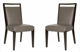 Basix Enzo Gray Dining Chair Set of 2