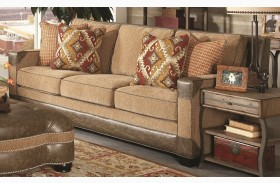 Fitzgerald Caramel and Ruby Multi Sofa