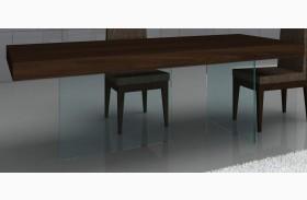 Float Timber Chocolate Modern Rectangular Dining Table