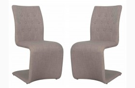 Regis Forma Gray Dining Chair Set of 2