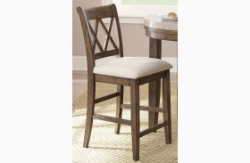 Franco Distressed Wash Counter Chair Set of 2
