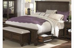 Gallatin Timeworn Mahogany Queen Storage Bed