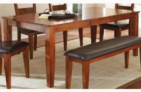 Mango Medium Brown Extendable Rectangular Dining Table