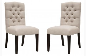 Graham Espresso Birch Fabric Dining Chair Set of 2