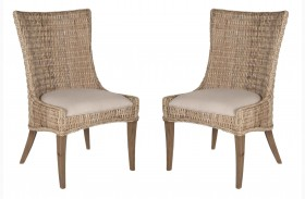 Greco Grey Kubu Dining Chair Set of 2