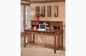 Cross Island Large Leg Desk With Hutch