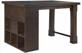 Pine Hill Rustic Pine Counter Height Desk