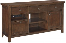 Wassner Dark Brown Large 4 Drawer Credenza