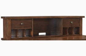 Wassner Dark Brown Home Office Short Desk Hutch