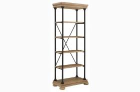 Shennifin Light Brown Large Bookcase
