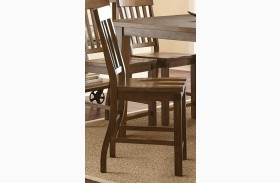 Hailee Antique Oak Counter Chair Set of 2