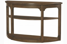 Facet Smoky Brown Oak Sofa Table