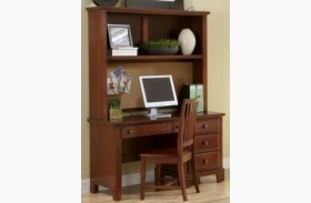 Hamilton/Franklin Cherry Computer Desk With Hutch