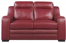 Hanson Red Loveseat
