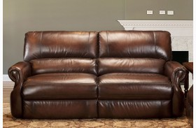 Hawthorne Brown Wipe Dual Power Reclining Sofa
