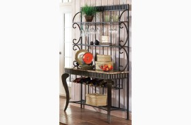 Hamlyn Spanish Brown Bakers Rack