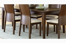 Harlow Warm Brown Extendable Rectangular Dining Table