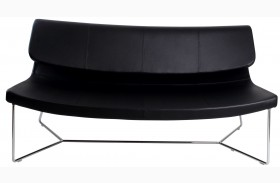 Hollywood Black Leatherette Sofa