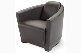 Hotel Black Italian Leather Chair