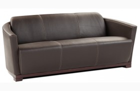 Hotel Black Italian Leather Sofa