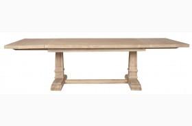 Hudson Stone Wash Rectangular Extendable Trestle Dining Table