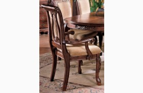 Harmony Cherry Arm Chair Set of 2