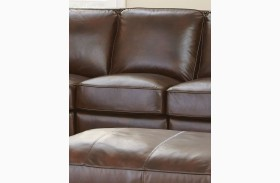 Henry Antique Tobacco Leather Armless Chair