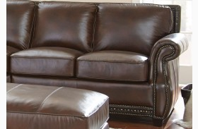 Henry Antique Tobacco Leather RAF Loveseat
