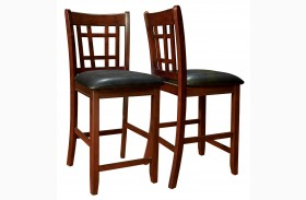 1156 Cappuccino / Black Pub Chair Set of 2