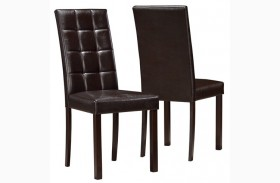1171 Dark Brown Dining Chair Set of 2
