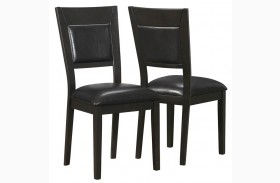 1495 Cappuccino / Brown Side Chair Set of 2