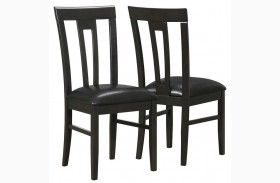1496 Cappuccino / Brown Side Chair Set of 2