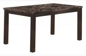 1738 Dark Espresso Marble Dining Table