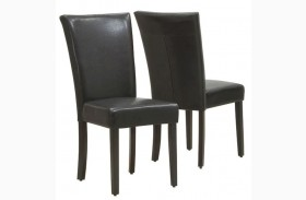 1739BR Dark Brown Side Chair Set of 2
