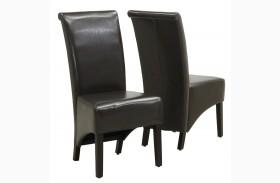 1776BR Dark Brown Side Chair Set of 2