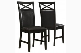 1801 Cappuccino / Brown Side Chair Set of 2